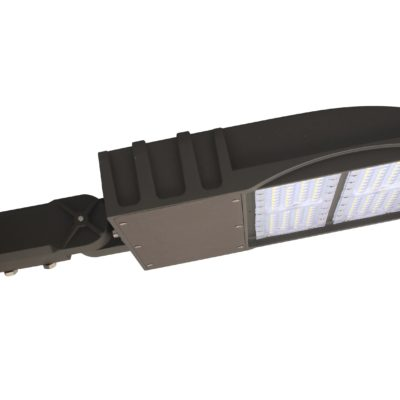 Flat Shoe Box LED Parking Lot Light - 100 Watt, 13,500 Lumens, 5000K, Slip Fitter Bracket