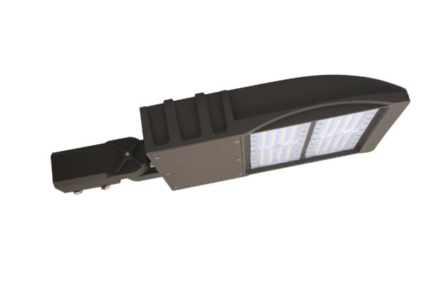 Flat Shoe Box LED Parking Lot Light - 100 Watt, 13,500 Lumens, 5000K, Slip Fitter Bracket