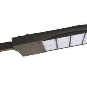 Flat Shoe Box LED Parking Lot Light - 100 Watt, 13,500 Lumens, 5000K, Square Mount Bracket
